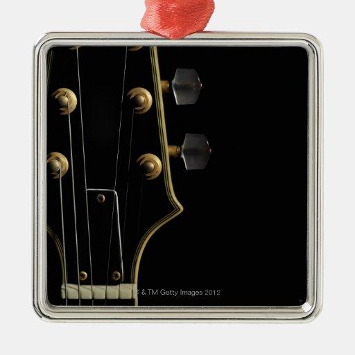 Guitarra eléctrica 5 adorno cuadrado plateado
