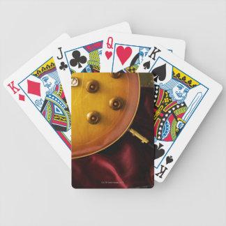 Guitarra eléctrica 6 baraja cartas de poker