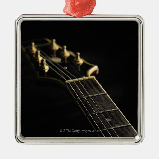 Guitarra eléctrica 7 adorno navideño cuadrado de metal