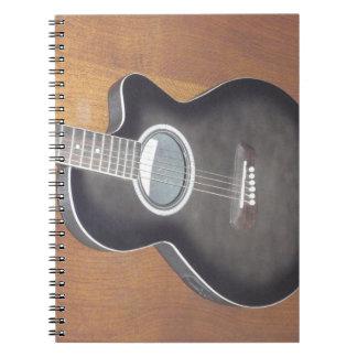Guitarra eléctrica acústica note book