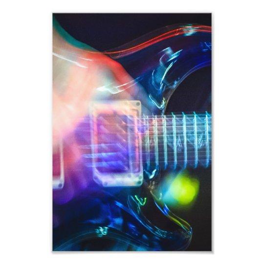 Guitarra eléctrica ardiente fotografía