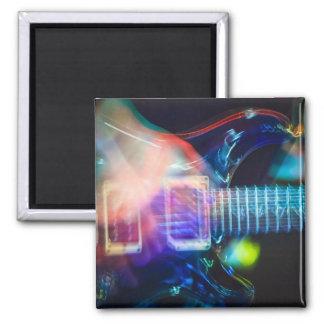 Guitarra eléctrica ardiente imán de frigorifico