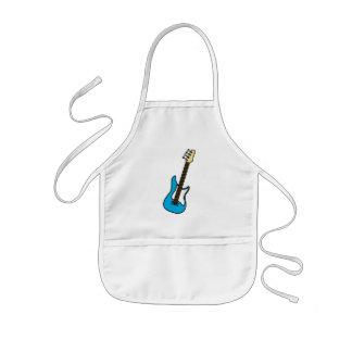 Guitarra eléctrica azul del juguete delantal infantil