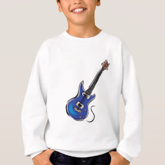 guitarra eléctrica azul poleras