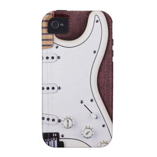 Guitarra eléctrica blanca 2 iPhone 4/4S carcasas