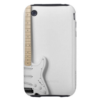 Guitarra eléctrica blanca 3 funda resistente para iPhone 3