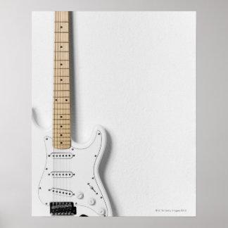 Guitarra eléctrica blanca 3 póster