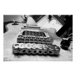 Guitarra eléctrica blanca impresiones