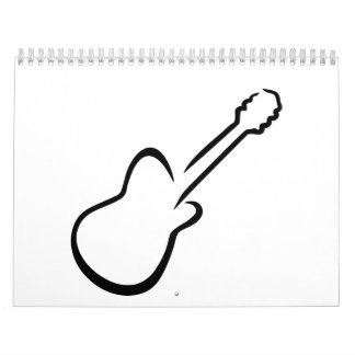 Guitarra eléctrica calendario de pared