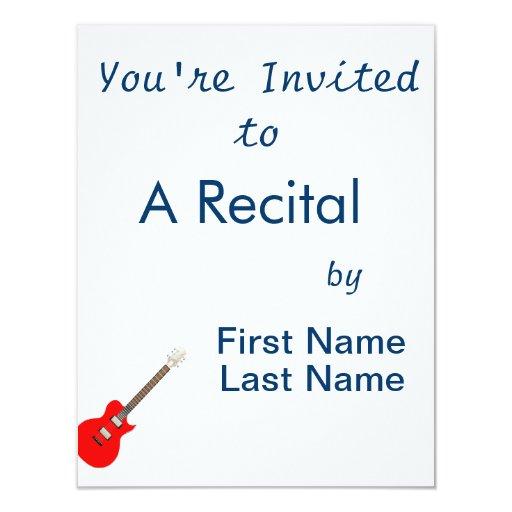 """guitarra eléctrica copy.png invitación 4.25"""" x 5.5"""""""