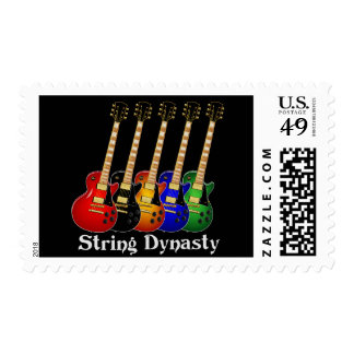 Guitarra eléctrica de la dinastía de la secuencia estampillas