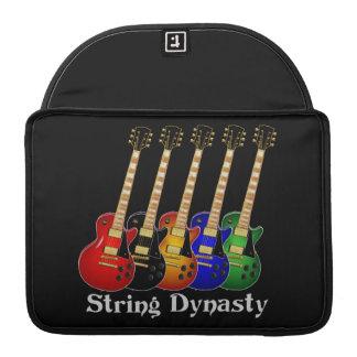 Guitarra eléctrica de la dinastía de la secuencia funda macbook pro
