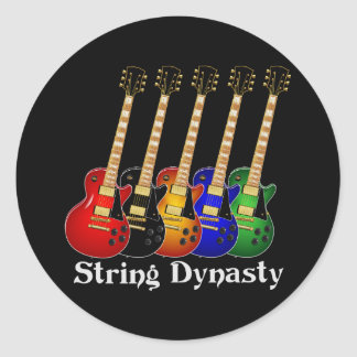 Guitarra eléctrica de la dinastía de la secuencia pegatina redonda
