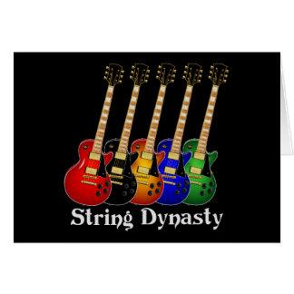 Guitarra eléctrica de la dinastía de la secuencia tarjetón