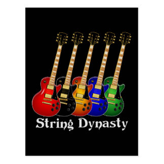 Guitarra eléctrica de la dinastía de la secuencia postales