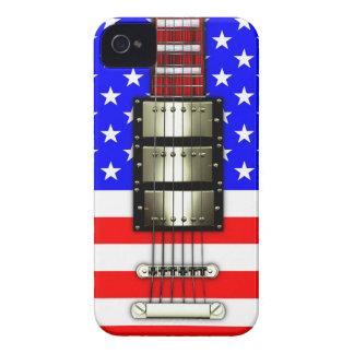 Guitarra eléctrica de las barras y estrellas Case-Mate iPhone 4 protector