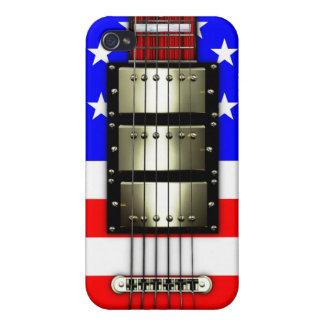 Guitarra eléctrica de las barras y estrellas iPhone 4 carcasas