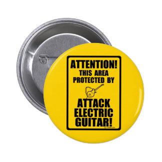 Guitarra eléctrica del ataque pins