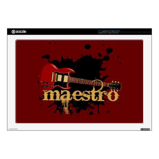 Guitarra eléctrica del Grunge del maestro Portátil Calcomanía