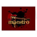 Guitarra eléctrica del Grunge del maestro Felicitacion