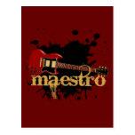 Guitarra eléctrica del Grunge del maestro Tarjetas Postales