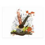 guitarra eléctrica del grunge postal