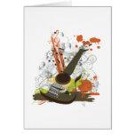 guitarra eléctrica del grunge tarjeta de felicitación