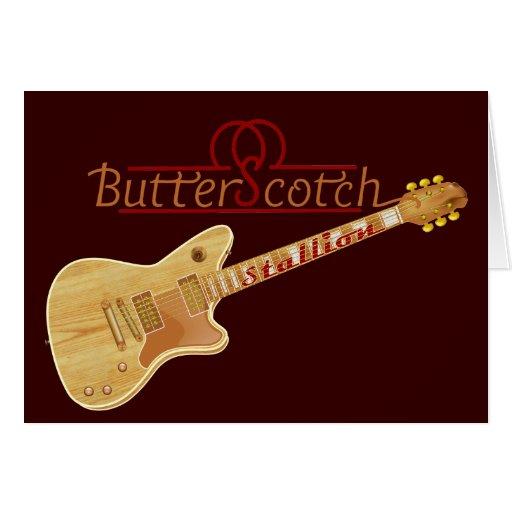 Guitarra eléctrica del semental del caramelo felicitacion