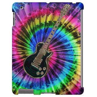 Guitarra eléctrica del teñido anudado del arco funda para iPad