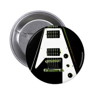 Guitarra eléctrica del vuelo V Pin Redondo De 2 Pulgadas