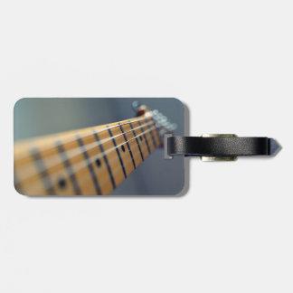 Guitarra eléctrica etiqueta de equipaje