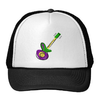 Guitarra eléctrica gorros bordados