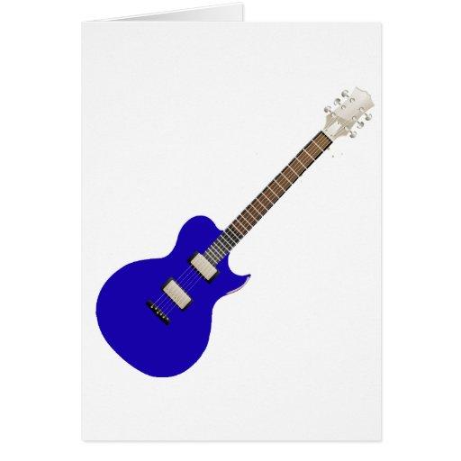guitarra eléctrica graphic.png azul tarjeta de felicitación