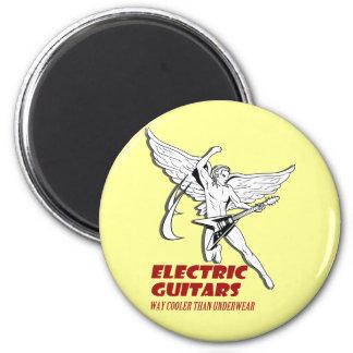 guitarra eléctrica imán redondo 5 cm