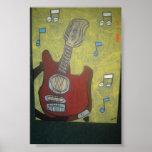 Guitarra eléctrica impresiones