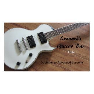 Guitarra eléctrica - lecciones tarjetas de visita