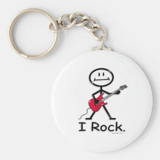 Guitarra eléctrica llavero redondo tipo pin