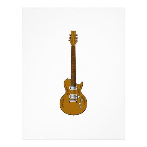 Guitarra eléctrica membrete a diseño