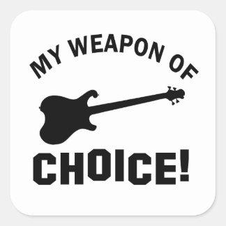Guitarra eléctrica mi arma de la opción calcomanía cuadrada personalizada