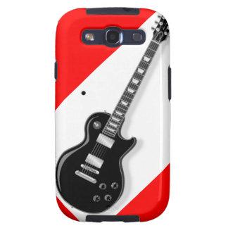 Guitarra eléctrica negra blanca roja samsung galaxy s3 protector