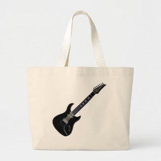 Guitarra eléctrica negra bolsa de mano
