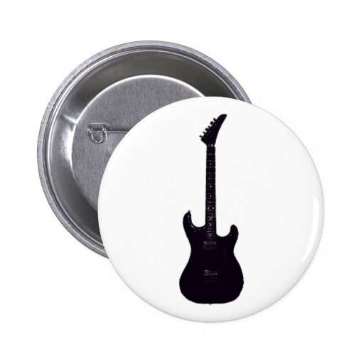 Guitarra eléctrica negra pin