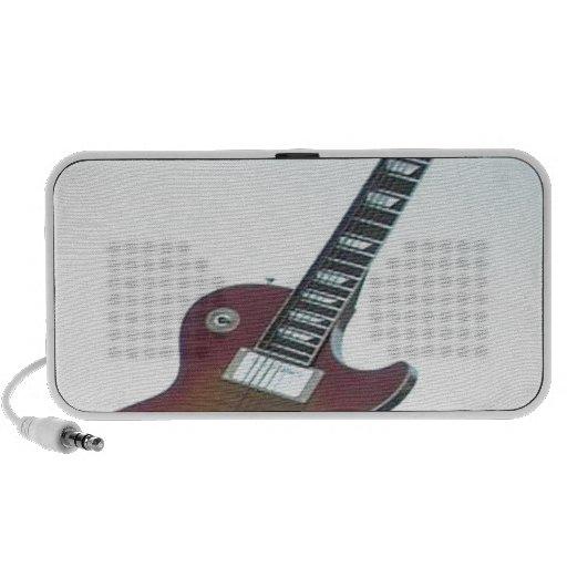 Guitarra eléctrica notebook altavoz