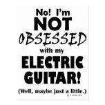 Guitarra eléctrica obsesionada postal