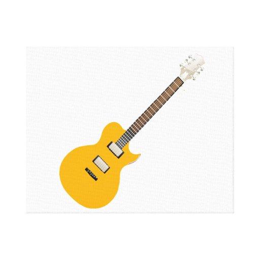 guitarra eléctrica orange.png impresión de lienzo