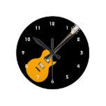 guitarra eléctrica orange.png reloj de pared