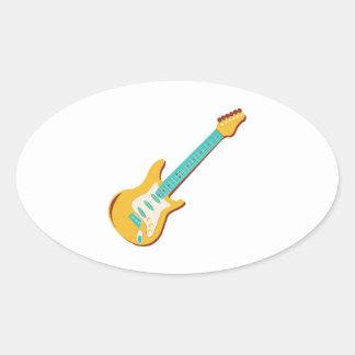 Guitarra eléctrica pegatinas de oval personalizadas
