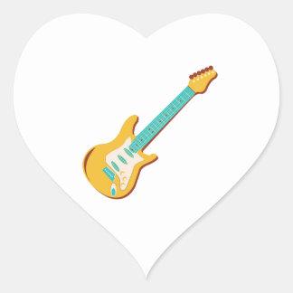 Guitarra eléctrica pegatina de corazon