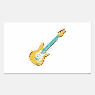 Guitarra eléctrica rectangular altavoces