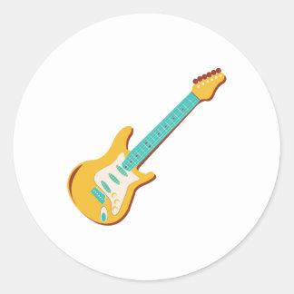 Guitarra eléctrica pegatina redonda